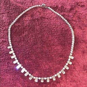 Choker necklace.